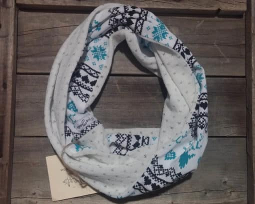 White Christmas Kids Scarf