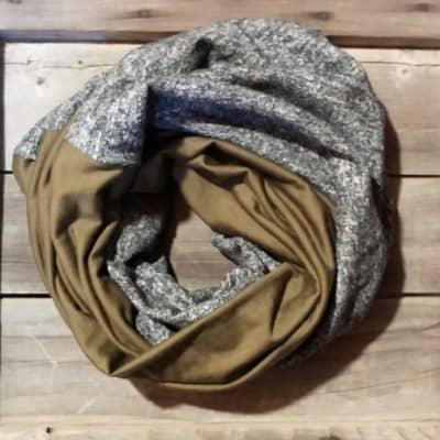 Army Green Merino Wool Scarf