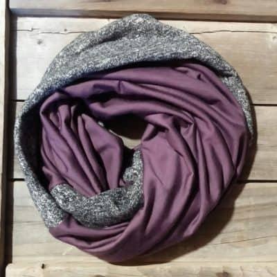 Eggplant Merino Wool Scarf