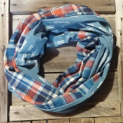 Blue and Orange Plaid Arrows Scarf