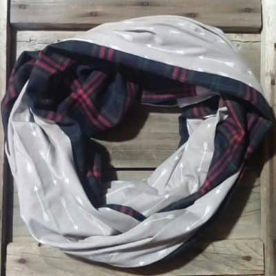 Arrows with Green & Red Plaid Scarf