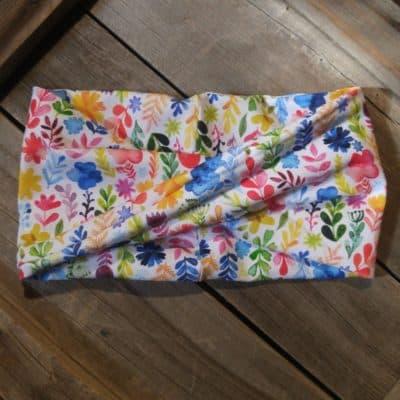 Watercolor Flowers Headband