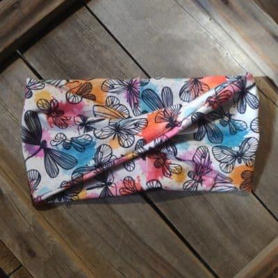 Watercolor butterflies headband