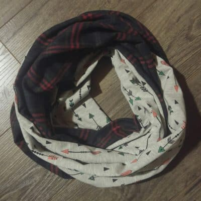 Arrows and Plaid Scarf
