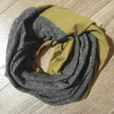 Merino Wool and French Terry Men's Scarf