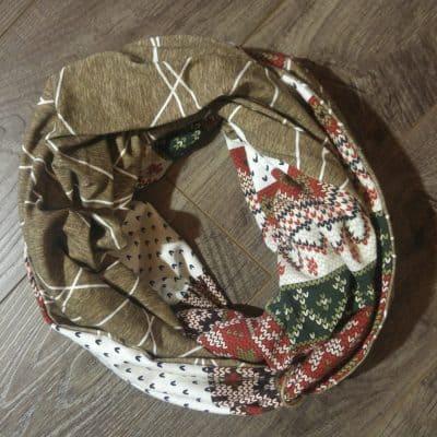 Vintage Christmas Snowflake Scarf