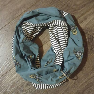 Hipster Deer and Stripes Scarf