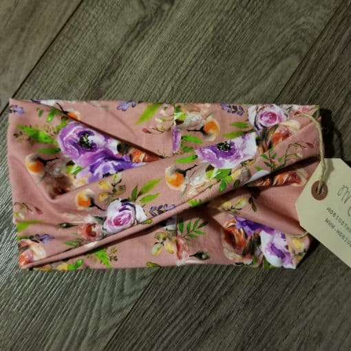 Pink and Purple Flowers Headband