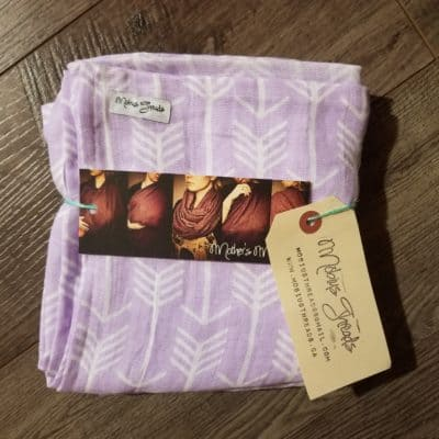 Lilac Arrows Breastfeeding Scarf