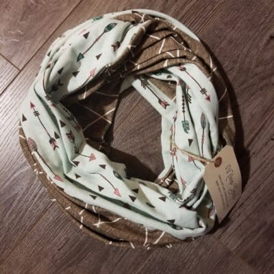 Mint Arrows Scarf