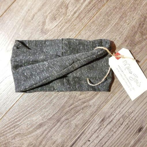 Black Heathered Knit Headband