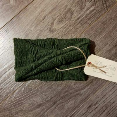 Green Cable Knit Headband
