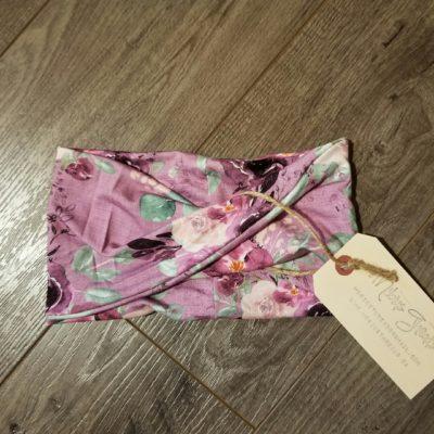 Lilac Floral Bamboo Headband