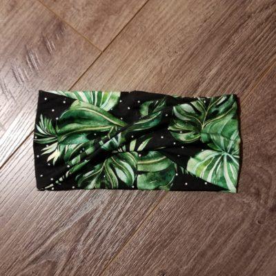Dotted Palms Bamboo Headband