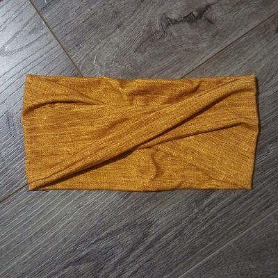 Mustard Linen Bamboo Headband