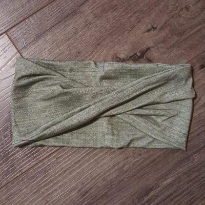 Olive Linen Bamboo Headband