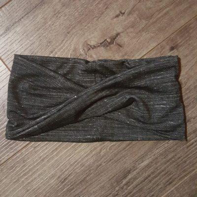 Black Linen Bamboo Headband