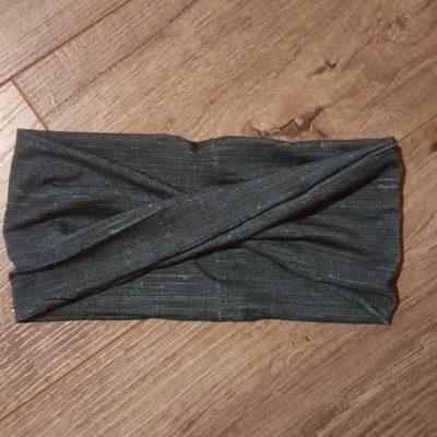 Dark Teal Linen Bamboo Headband