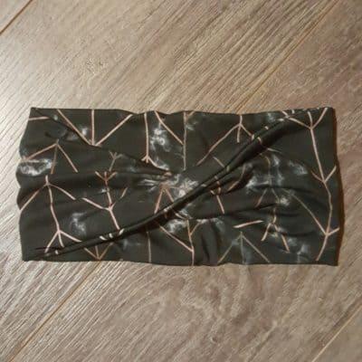 Black Marble Bamboo Headband